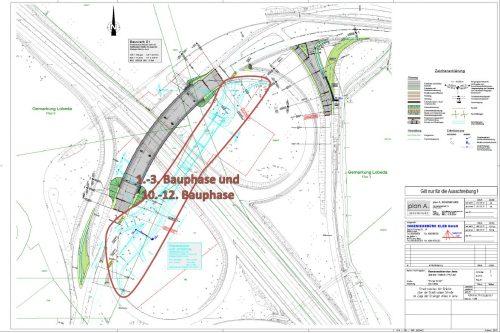Karte mit den geplanten Bauphasen 1-3 und 10-12