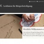 Online-Dialog Leitlinien