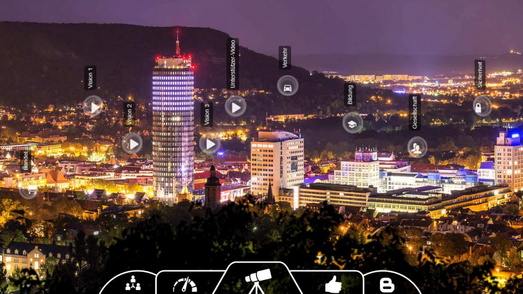 Screenshot der Website Digitale Stadt Jena.