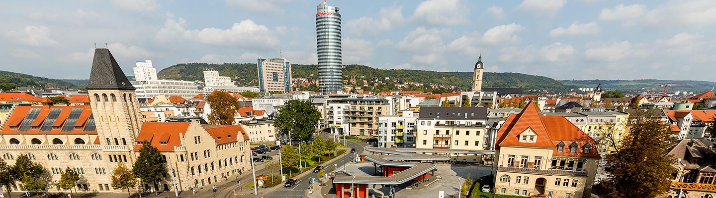 Jena Stadtansicht mit Volksbad