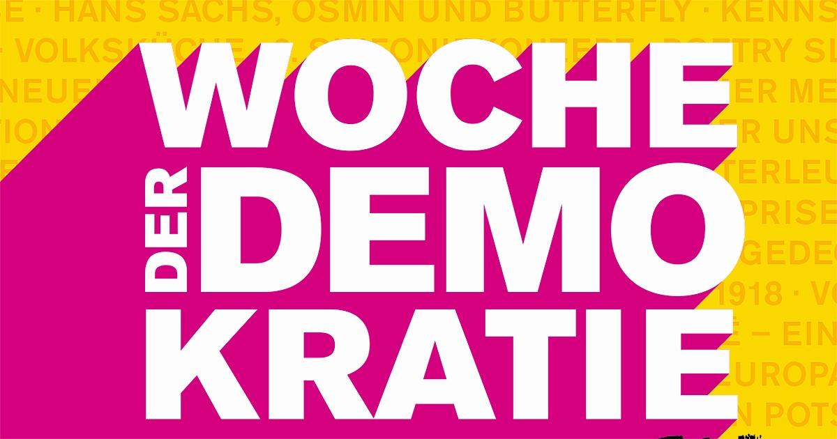 Banner zur Woche der Demokratie