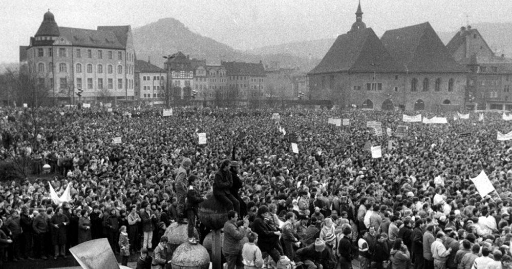Friedliche Revolution in Jena, Eichplatz-Demo