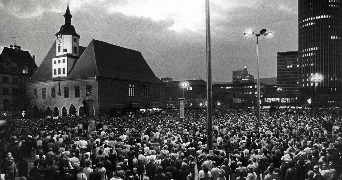 Massenproteste Friedliche Revolution Jena