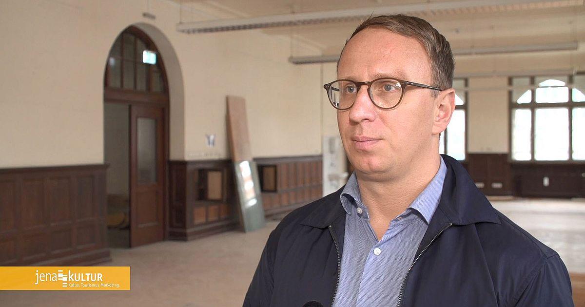 Carsten Müller, stellvertretender Werkleiter bei JenaKultur, im Lehrgebäude des Volkshauses Jena