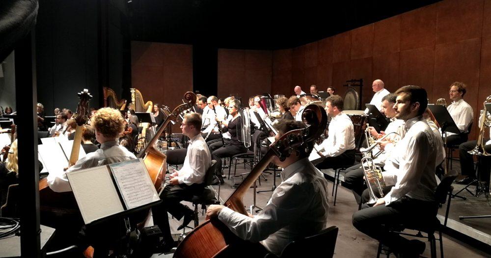 Die Jenaer Philharmonie unterwegs in der Schweiz, hier Vaduz.