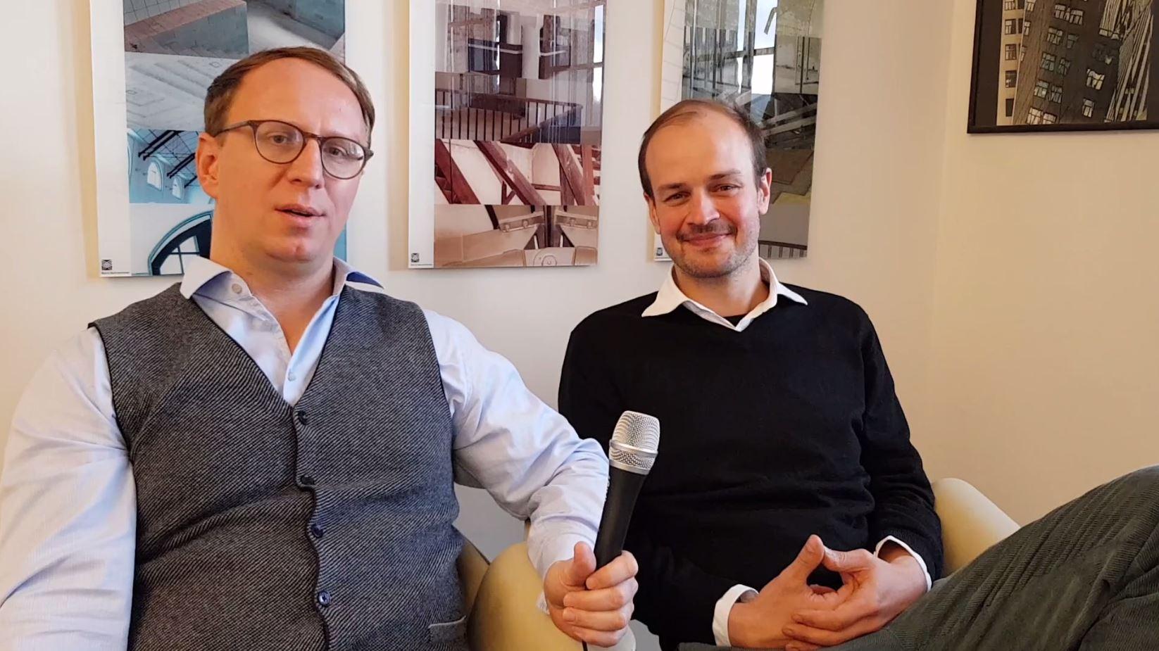 Werkleiter von JenaKultur Jonas Zipf und der zweite Werkleiter Carsten Müller