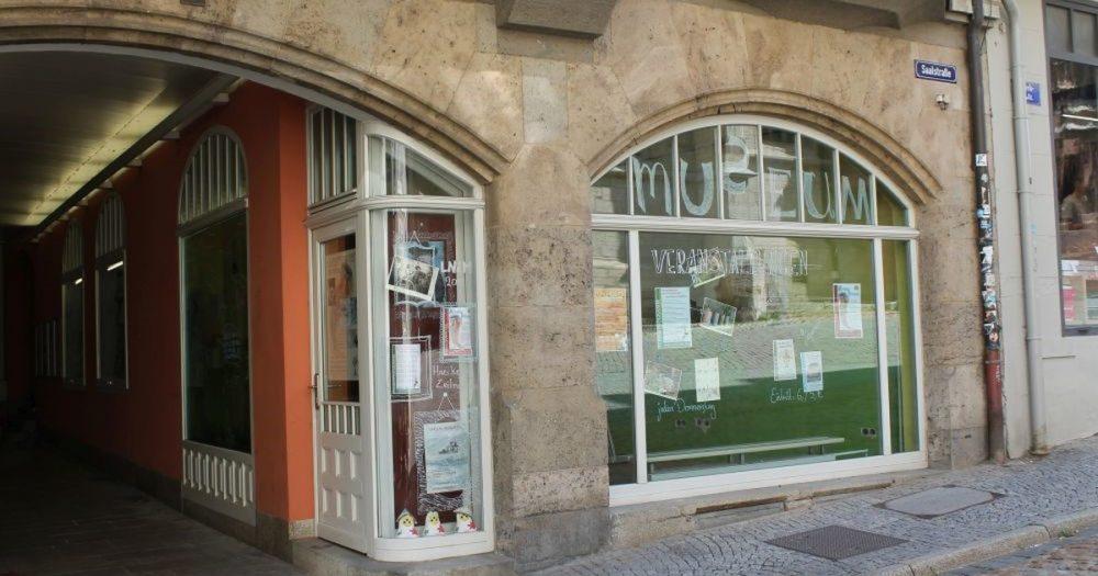 Außenansicht der Museumswerkstatt in der Saalstraße 23 in Jena