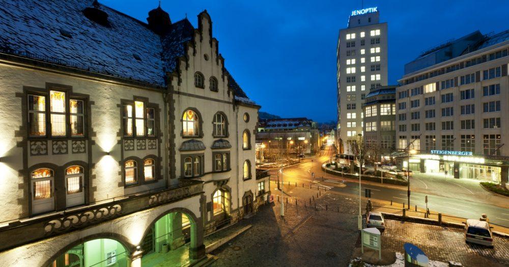 Volkshaus und Steigenberger Hotel in Jena