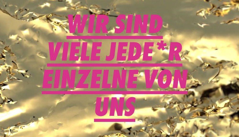 Slogan der Thüringer Erklärung DIE VIELEN: Wir sind viele jede*r einzelne von uns