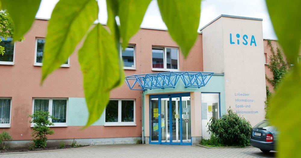 Außenansicht des Stadtteilzentrums LISA in Jena Lobeda