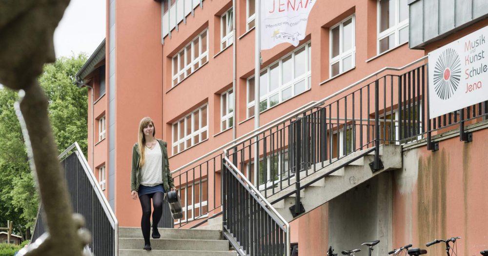 Eingangsbereich der Musik- und Kunstschule Jena