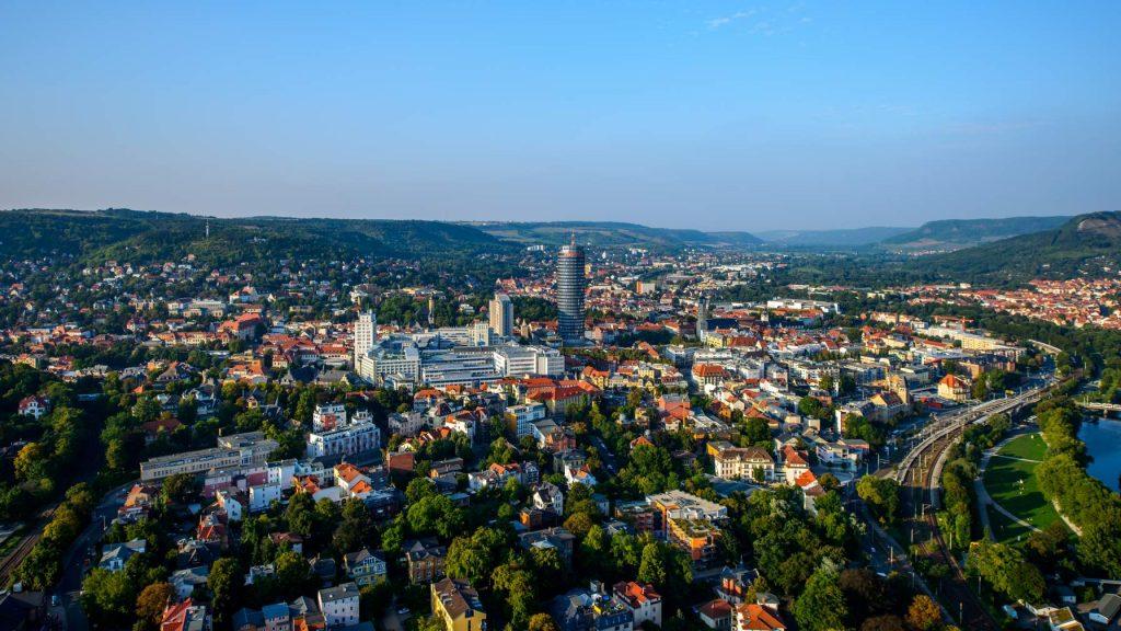 Stadtansicht Jena von oben