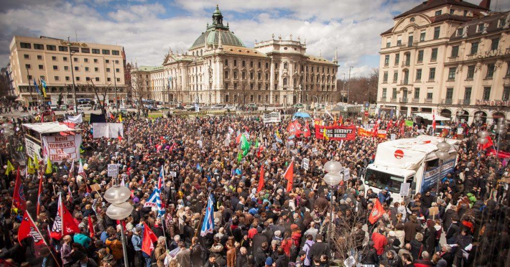 Demonstration zum NSU-Prozess in München, 13. April 2013