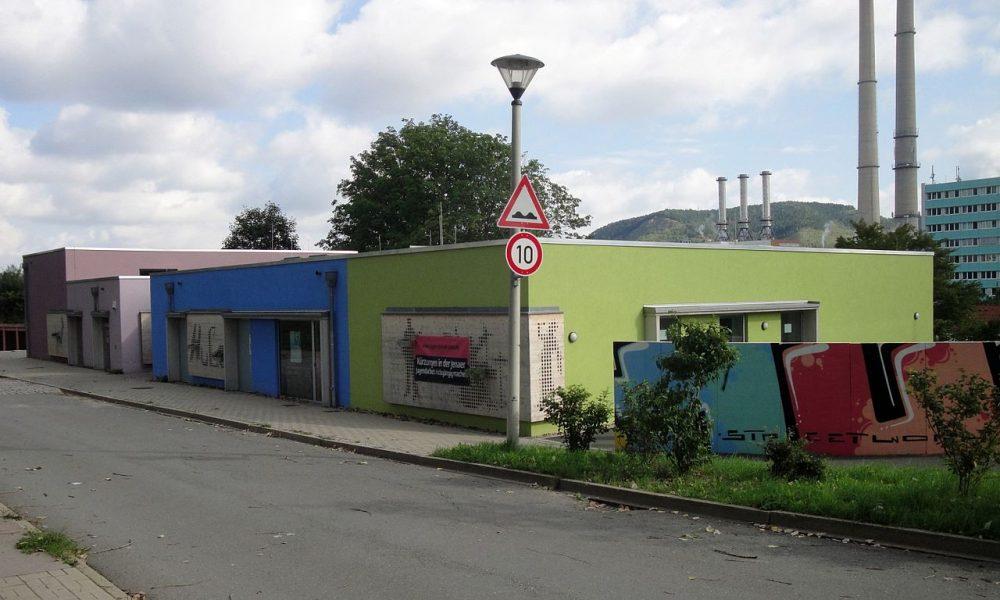 Jugendzentrum Hugo in Jena-Winzerla, früher Winzerclub, in dem sich das NSU-Trio kennenlernte
