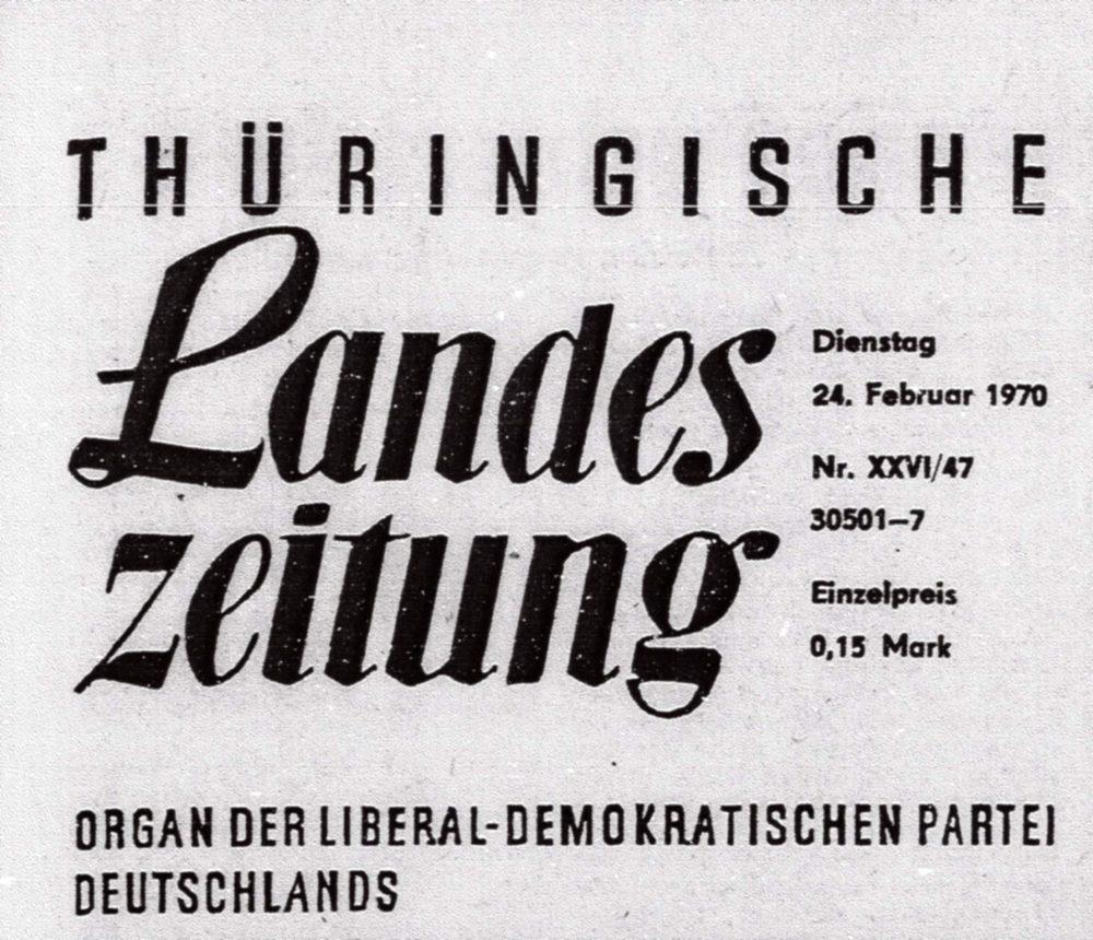 Zeitungsartikel 1970