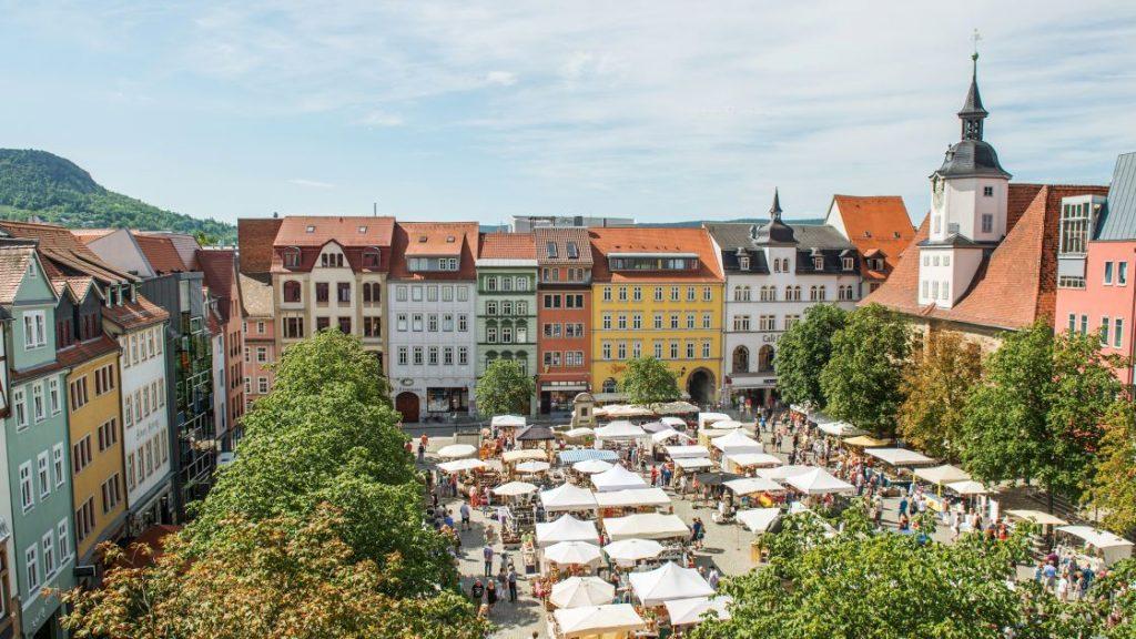 Stände auf dem Jenaer Marktplatz