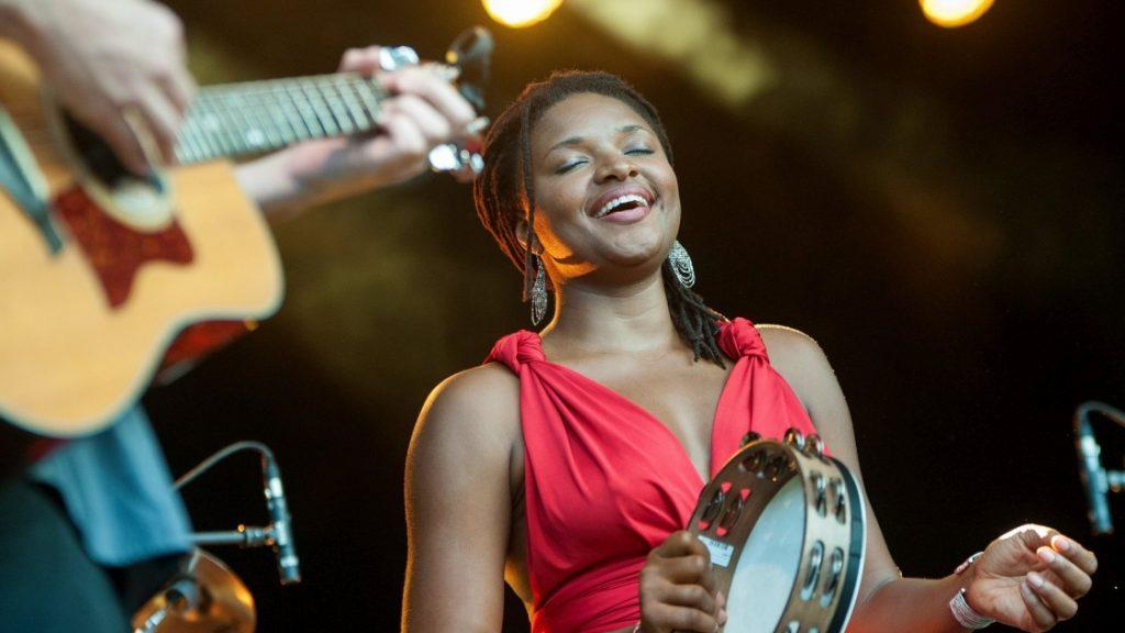 Die Sängerin Lizz Wright bei der Kulturarena Jena