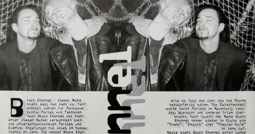 Ausschnitt aus dem T-Mag vom Dezember 1996 mit einer Doppelseite zum Black Channel