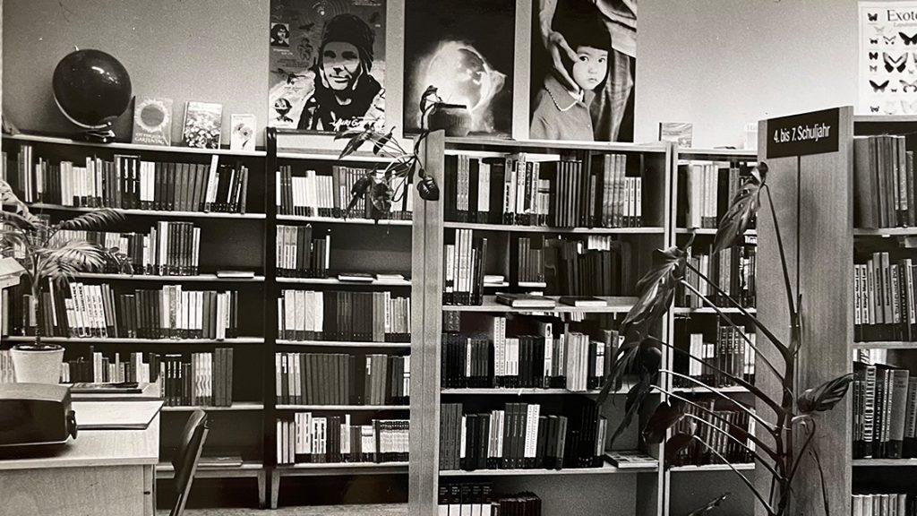 Kinderbibliothek der EAB in der Grietgasse 1982, Innenansicht