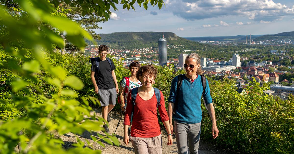 Wandern auf der SaaleHorizontale rund um Jena