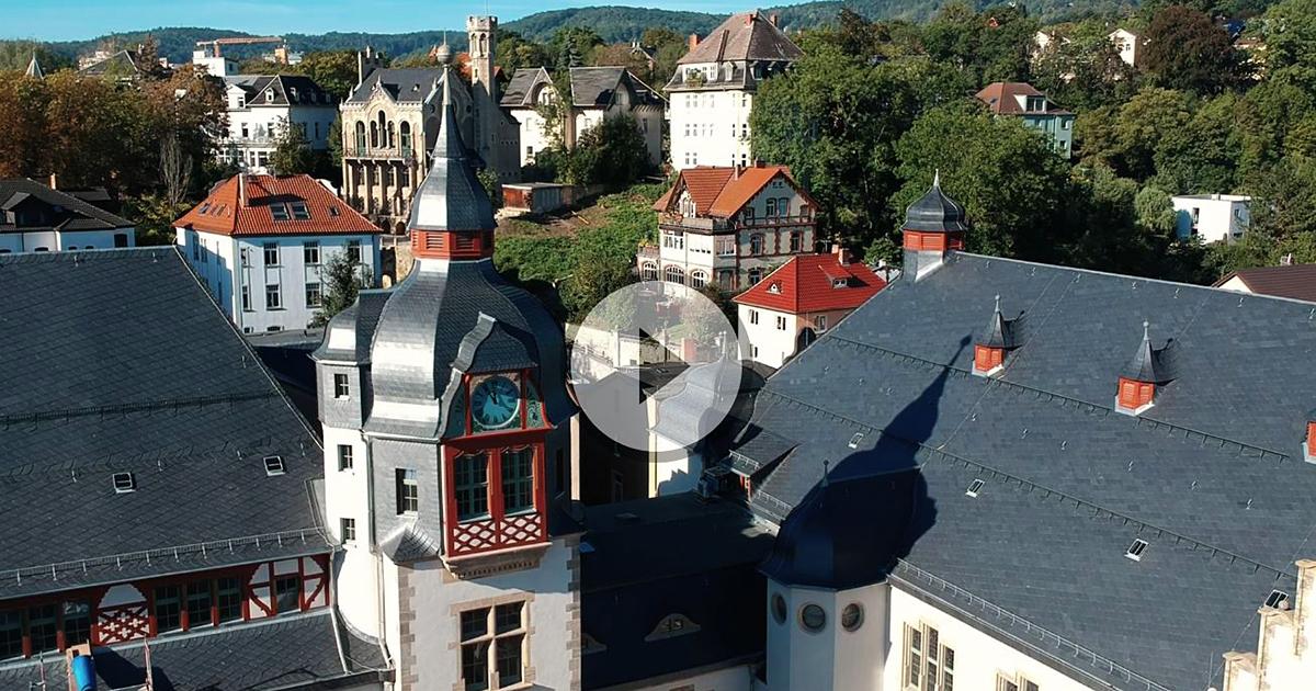 Volkshaus Jena von oben
