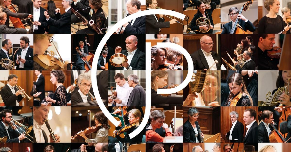 Musiker:innen der Jenaer Philharmonie in einer Collage