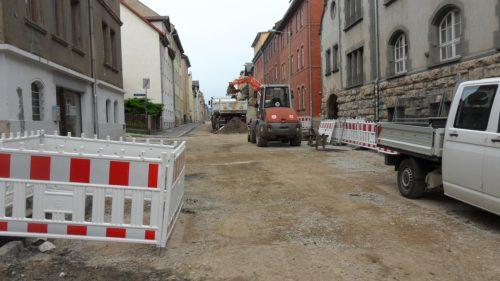 Baufortschritt in der Lutherstraße