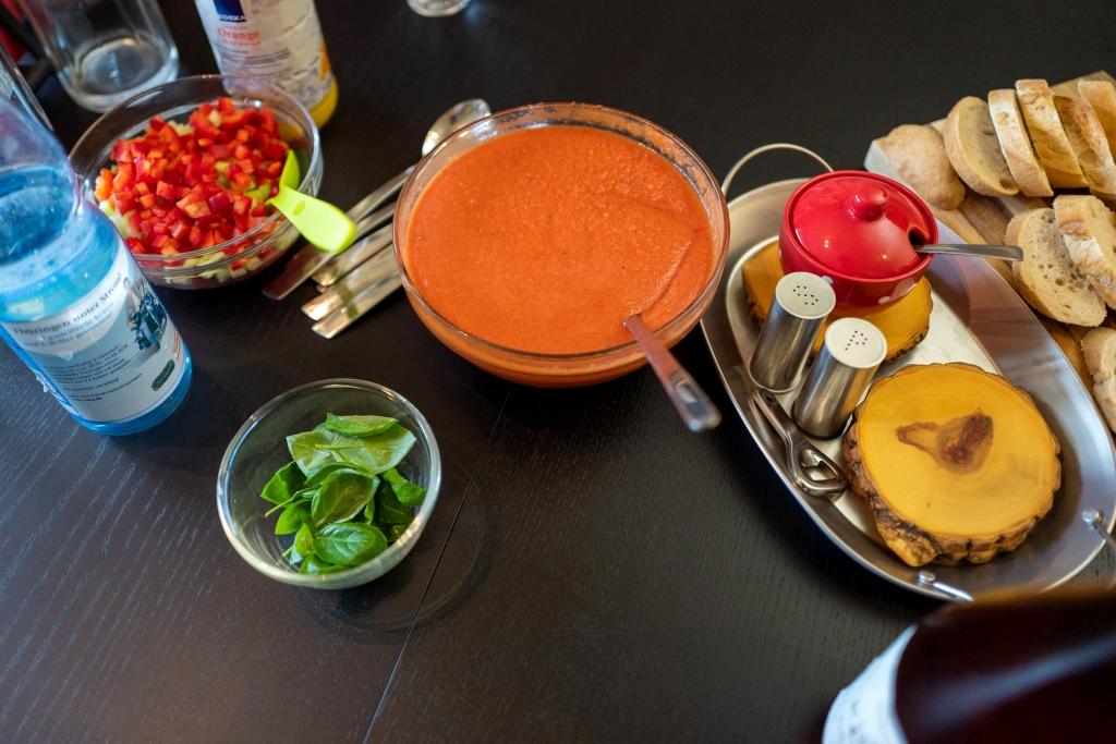 Bei der Kochgruppe Stadtgebiet gab es eine standesgemäße Suppe!