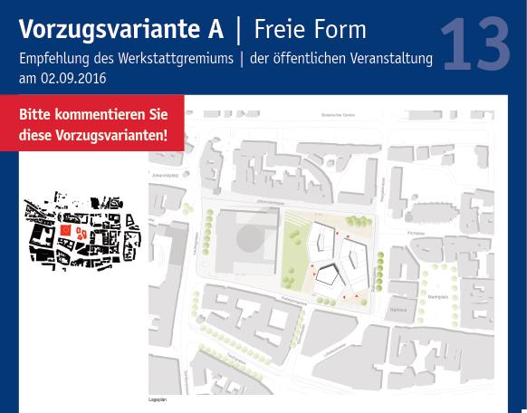 13. Plakat Ausstellung Entwurfsansätze Rahmenplan