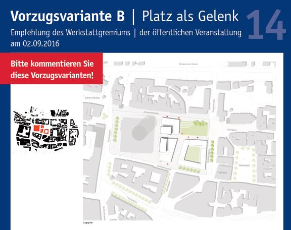 14. Plakat Ausstellung Entwurfsansätze Rahmenplan