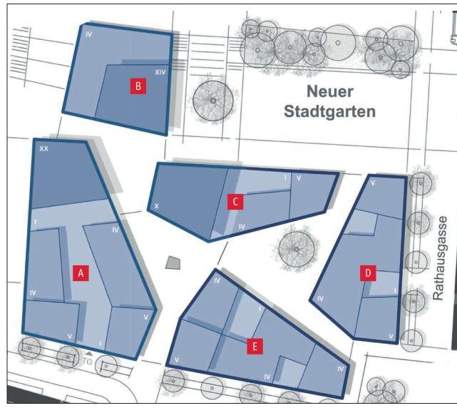 Die Baufelder auf dem Eichplatzareal.