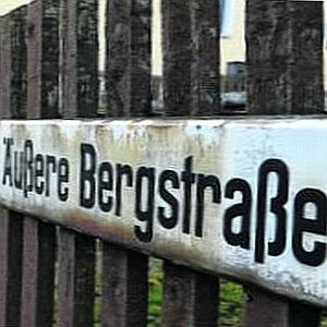 Strassenschild Aeusere Bergstraße aus Sachsen - Abbildung © MediaPool Jena