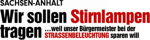 BILD Schlagzeile aus dem Jahre 2014 - Abbildung © MediaPool Jena