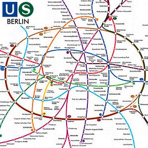 Das U- und S-Bahnnetz in Berlin - Symbolbild - Abbildung © BVG