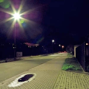 LED Strassenbeleuchtung in der Pruessingstrasse in Jena - Foto  © Stadt Jena KSJ Vitzthum