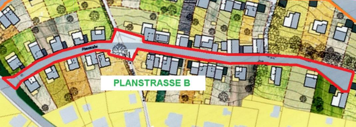 Die Planstrasse B im Hausbergviertel - Foto © Stadt Jena KSJ