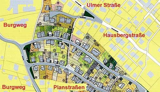 Die Strassen im und am Rande des B-Plan Gebietes Hausbergviertel - Foto © Stadt Jena KSJ