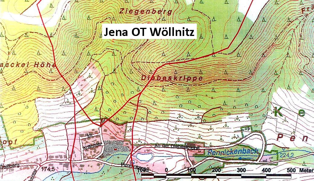 Die geologischen Gegebenheiten in Woellnitz - Abbildung © Stadt Jena KSJ