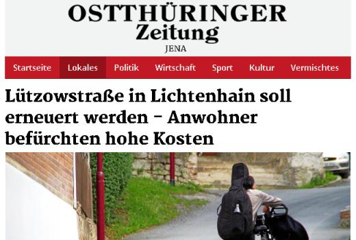 OTZ Artikel 2015-09-23 - Abbildung © Stadt Jena KSJ mit freundlicher Genehmigung der Mediengruppe Thueringen