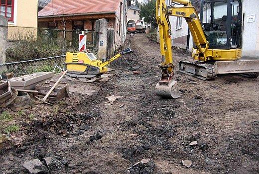 Der untere Teil der Luetzowstraße - Bauarbeiten der SWJG - Foto 1 © Stadt Jena KSJ