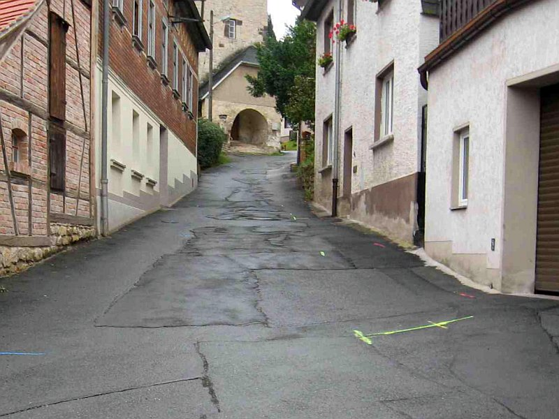 Lützowstraße Unterer Teil vor den Bauarbeiten der Stadtwerke Jena Energie - Foto © Stadt Jena KSJ