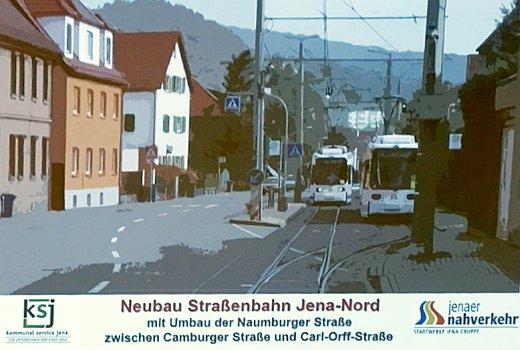 JEZT - Beamerfoto aus der Informationsveranstaltung im Jenaer Rathaus - Foto © Stadt Jena KSJ