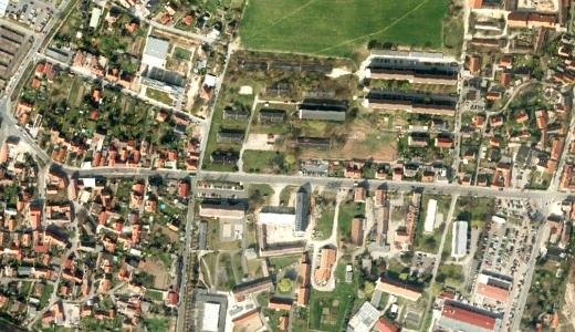 JEZT - Luftbild der Naumburger Strasse in Loebstedt und Zwaetzen - Abbildung © Stadt Jena KSJ
