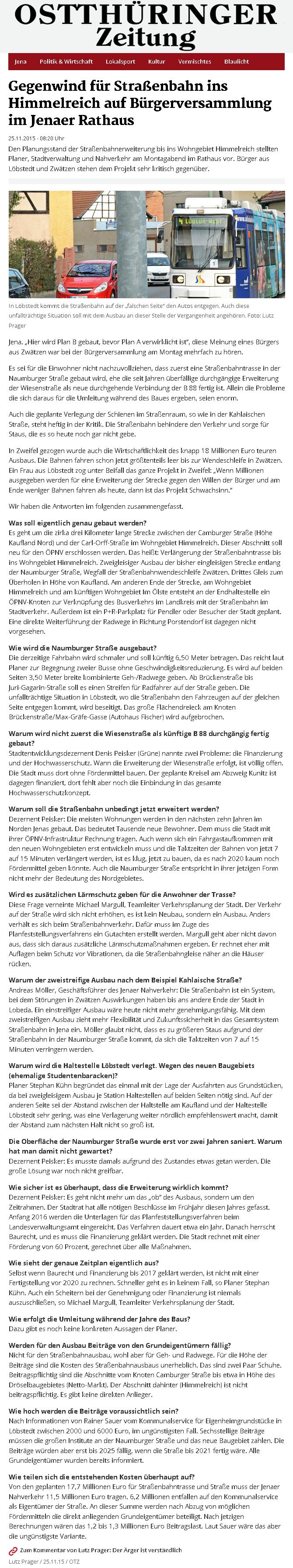 OTZ Jena Artikel 2015-11-25