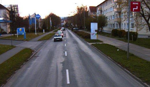 Camburger Straße - Abschnitt Altenburger Straße bis Leipziger Straße - Foto © Stadt Jena KSJ