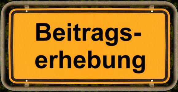 Schild Beitragserhebung - Abbildung © Stadt Jena KSJ
