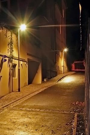 LED-Straßenbeleuchtung in der Johann-Friedrich-Straße - Foto © Stadt Jena KSJ Vitzthum