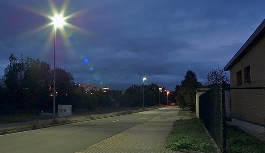 LED-Straßenbeleuchtung in der Prüssingstraße - Foto © Stadt Jena KSJ Vitzthum