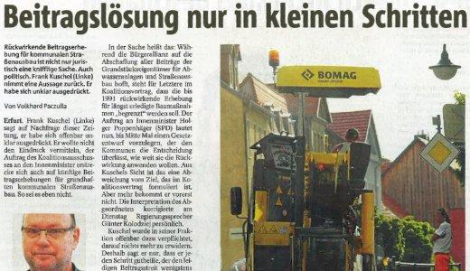 Artikel - Beitragslösung nur in kleinen Schritenl - Symbolfoto © Stadt Jena KSJ