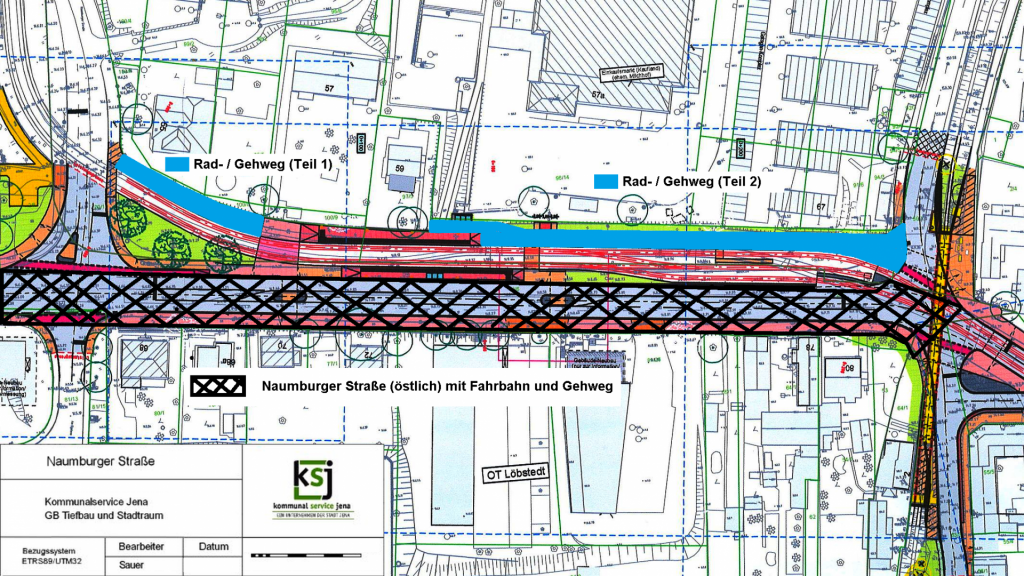 Plan zum AUsbau der Naumburger Straße